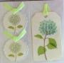 Stickers tags fleurs séchées