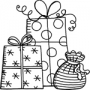 Tampon bois Aladine tas de cadeaux