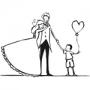 Tampon bois Aladine couple et enfant