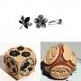 Tampon bois Aladine Cube Trio Nature graphique