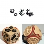 Tampon bois Aladine Cube Trio Charme naturel