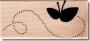 Tampon bois Florilèges Papillon vole