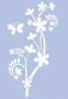 Très grand pochoir Branche fleurie et papillon