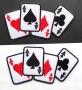 Très grande broderie cartes à jouer