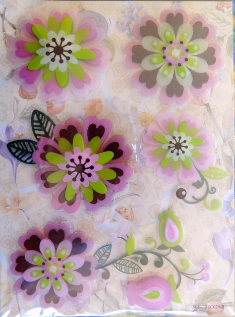 stickers-multicouches-fleurs-rose-vert