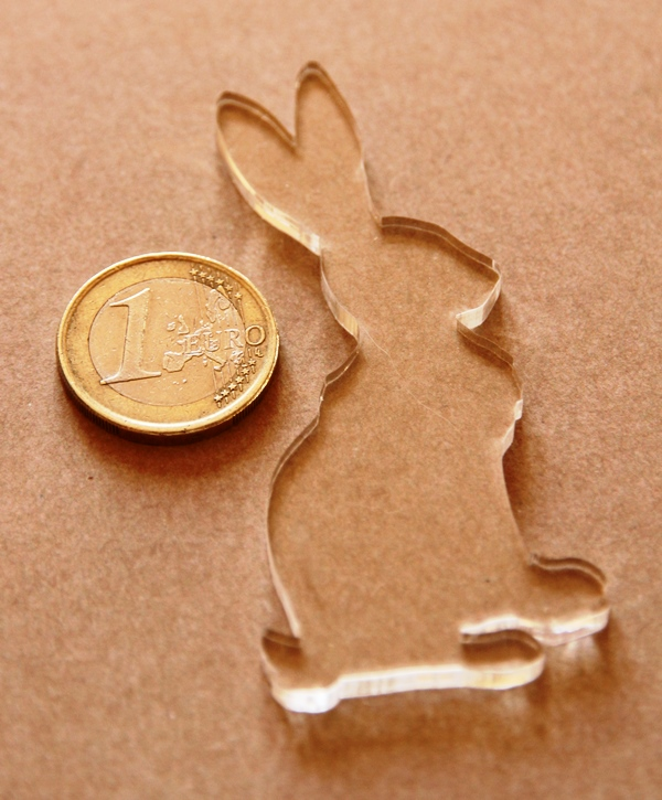 Grand lapin en plexi elaia design