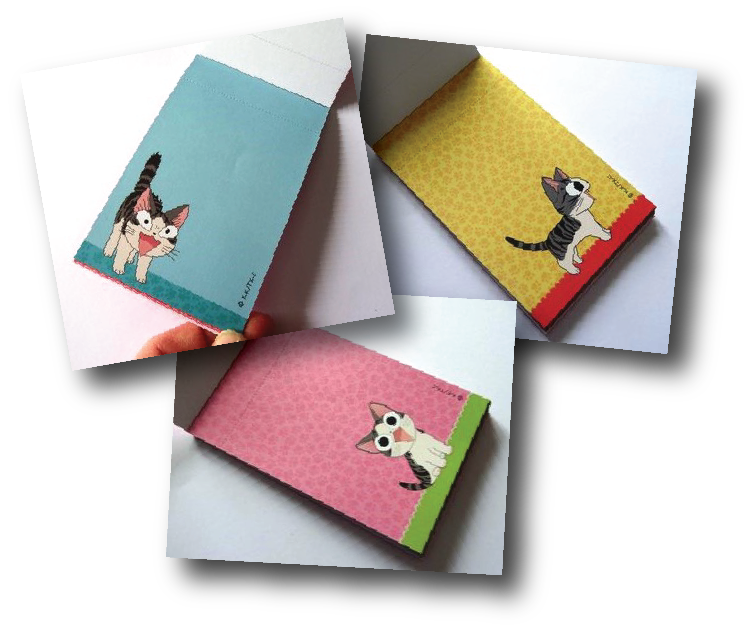 carnet feuillets chat chi
