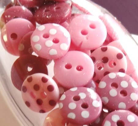 mini boutons roses-boutique scrapbooking elaia